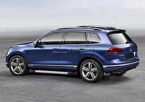 "Порог-площадка ""Silver""  Volkswagen Touareg R-Line 2010-2014"