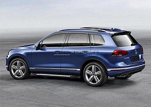 "Порог-площадка ""Bmw-Style"" Volkswagen Touareg R-Line 2010-2014"