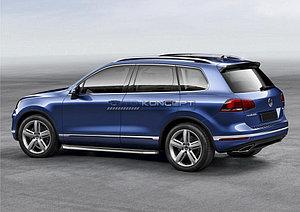 """Порог-площадка """"Premium"""" Volkswagen Touareg R-Line 2010-2014"""