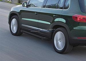 "Порог-площадка ""Black""  Volkswagen Tiguan 2007-2016"