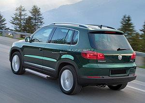 "Порог-площадка ""Silver""  Volkswagen Tiguan 2007-2016"
