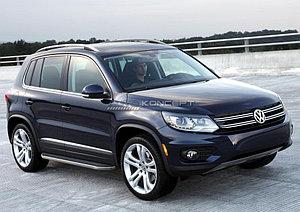 "Порог-площадка ""Premium"" Volkswagen Tiguan 2007-2016"