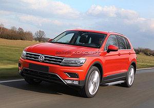 "Порог-площадка ""Silver""  Volkswagen Tiguan 2016-"