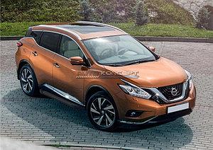 "Порог-площадка ""Black""  Nissan Murano 2016-"