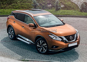 "Порог-площадка ""Silver""  Nissan Murano 2016-"