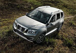 """Порог-площадка """"Black""""  Nissan Terrano 2014-"""