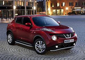 """Порог-площадка """"Premium"""" Nissan Juke, FWD 2010-2014"""