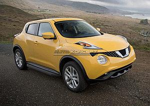 """Порог-площадка """"Black"""" Nissan Juke, FWD 2010-2014"""