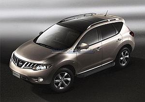 "Порог-площадка ""Black""  Nissan Murano 2009-2010"