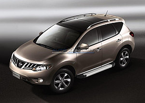 "Порог-площадка ""Silver""  Nissan Murano 2009-2010"