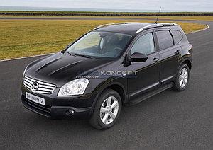 "Порог-площадка ""Black""  Nissan Qashqai+2 2008-2010"