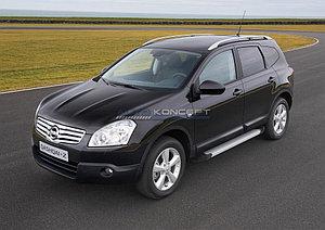 "Порог-площадка ""Silver""  Nissan Qashqai+2 2008-2010"