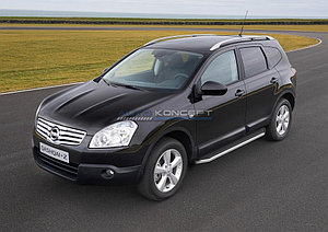 "Порог-площадка ""Premium"" Nissan Qashqai+2 2008-2010"