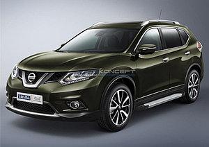 """Порог-площадка """"Silver""""  Nissan X-Trail 2007-2011"""