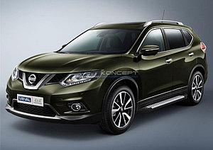 """Порог-площадка """"Bmw-Style"""" Nissan X-Trail 2007-2011"""
