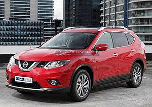 """Порог-площадка """"Black"""" Nissan X-Trail 2007-2011"""