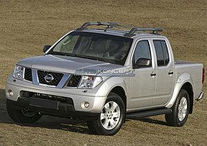 """Порог-площадка """"Black"""" Nissan Navara 2005-2010"""