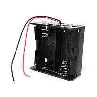 Батарейный отсек для батарей и аккумуляторов типа D на 2 шт c проводами