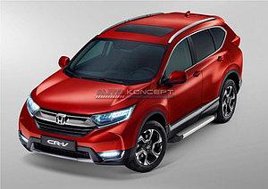 "Порог-площадка ""Silver""  Honda CR-V 2017-"