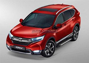 """Порог-площадка """"Bmw-Style"""" Honda CR-V 2017-"""