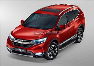 "Порог-площадка ""Premium"" Honda CR-V 2017-"