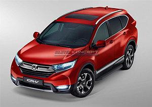 "Порог-площадка ""Black"" Honda CR-V 2017-"