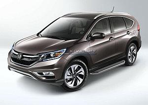 "Порог-площадка ""Premium"" Honda CR-V 2014-2016"