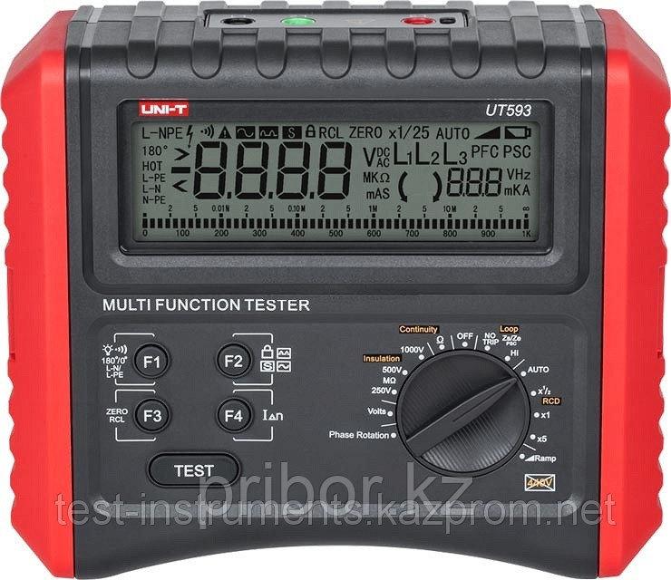 UT593  прибор для измерения и проверки  параметров электробезопасности. Внесён в реестр РК