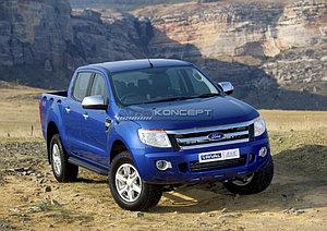 "Порог-площадка ""Black"" Ford Ranger 2012-2015"