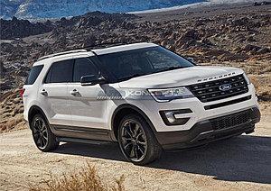 "Порог-площадка ""Black""  Ford Explorer 2011-2015"