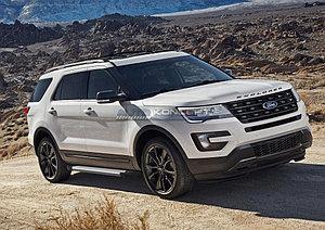 """Порог-площадка """"Silver""""  Ford Explorer 2011-2015"""