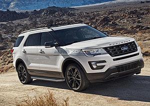 "Порог-площадка ""Premium"" Ford Explorer 2011-2015"