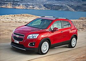 "Порог-площадка ""Bmw-Style"" Chevrolet Tracker 2013-"