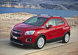 """Порог-площадка """"Premium"""" Chevrolet Tracker 2013-"""