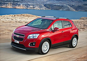 "Порог-площадка ""Black"" Chevrolet Tracker 2013-"