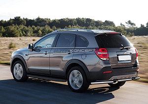 """Порог-площадка """"Black"""" Chevrolet Captiva 2013-2015"""