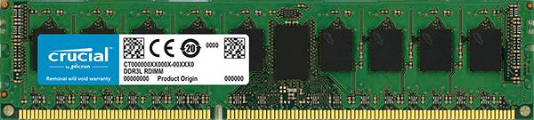 Crucial DRAM 8GB DDR3L 1600MT/s (PC3-12800) DR x8 ECC Unbuffered DIMM 240pin