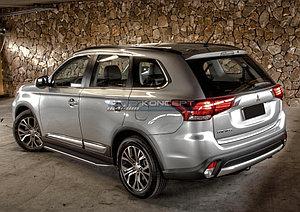 "Порог-площадка ""Premium"" Mitsubishi Outlander 2012-2014"