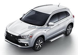 "Порог-площадка ""Silver""  Mitsubishi ASX 2016-"