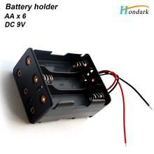 """Держатель на 6 батареек """"АА"""", размер 29х48x58мм"""