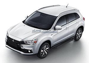 "Порог-площадка ""Black""  Mitsubishi ASX 2010-2013"