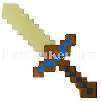 Светящийся меч Майнкрафт (Minecraft) золотой 37.5 см