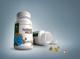 Льна масло Желатиновые капсулы №100