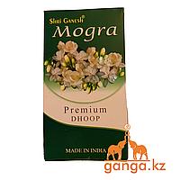 Натуральные безосновные (пластилиновые) Благовония Жасмин (Mogra Premium Dhoop SHRI GANESH), 20 шт