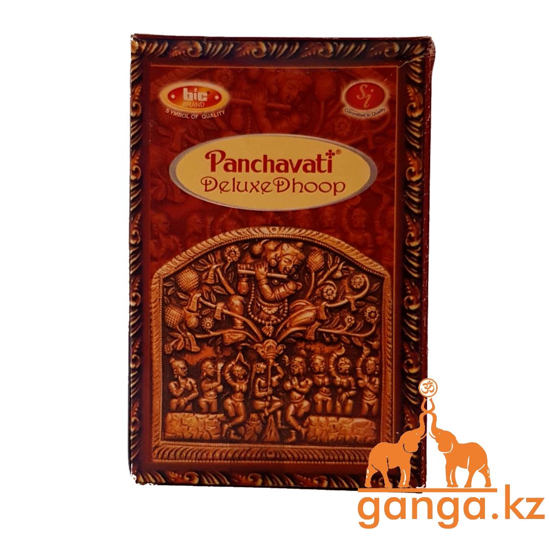 Натуральные безосновные (пластилиновые) Благовония Сандал (Deluxe Dhoop PANCHAVATI), 20 шт