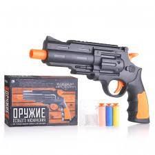 Пистолет 66842 с мягкими и водными пулями, в коробке