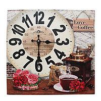 """Часы настенные, """"Love coffee"""", 39*39 см"""