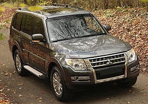 """Порог-площадка """"Silver""""  Mitsubishi Pajero IV 2011-2014"""