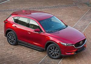"Порог-площадка ""Black""  Mazda CX-5 2011-2017"