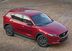 """Порог-площадка """"Premium"""" Mazda CX-5 2011-2017"""